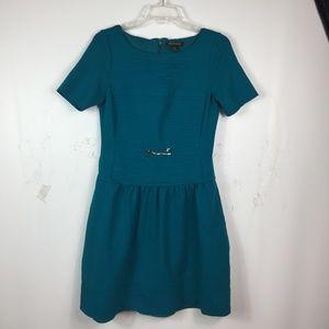 White House Black Market Women's Dress Aqua